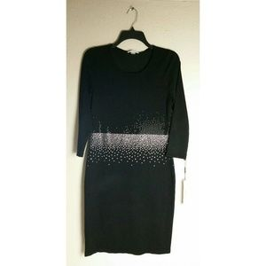 NWT Calvin Klein Dress Black With Sequins Size S